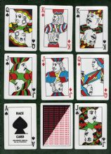 Collectible s playing card  Race Card 1995 ethnic types courts